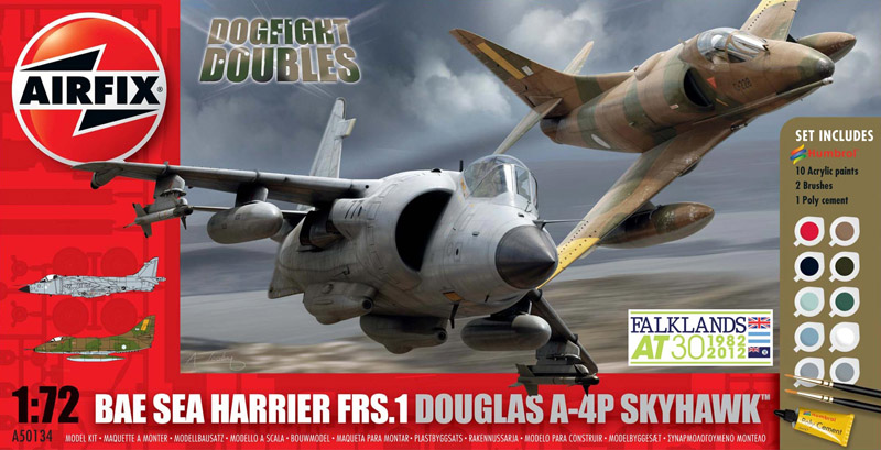САМОЛЕТЫ DOGFIGHT DOUBLE A-4/HARRIER 1/72