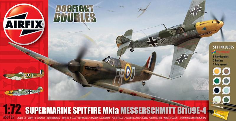 Сборная модель САМОЛЕТЫ DOGFIGHT  Spitfire Bf-109 1/72