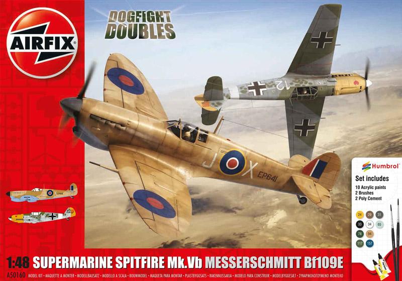 Сборная модель САМОЛЕТЫ DOGFIGHT  Spitfire Bf-109 1/48