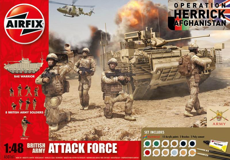 Сборная модель Британский БТР+солдаты. Афган. 1/48