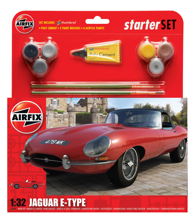 АВТОМОБИЛЬ E-TYPE JAGUAR  1/32