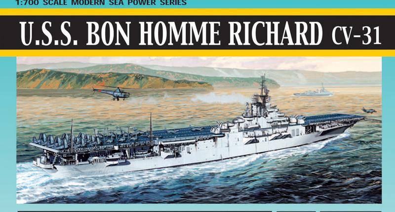 Модель Авианосец U.S.S. BON HOMME RICHARD (CV-31), KOREAN WAR