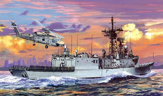 Сборная модель Корабль U.S.S. INGRAHAM FFG-61