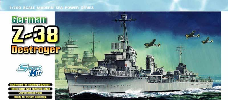 Модель Корабль Нем.эсминец Z-38