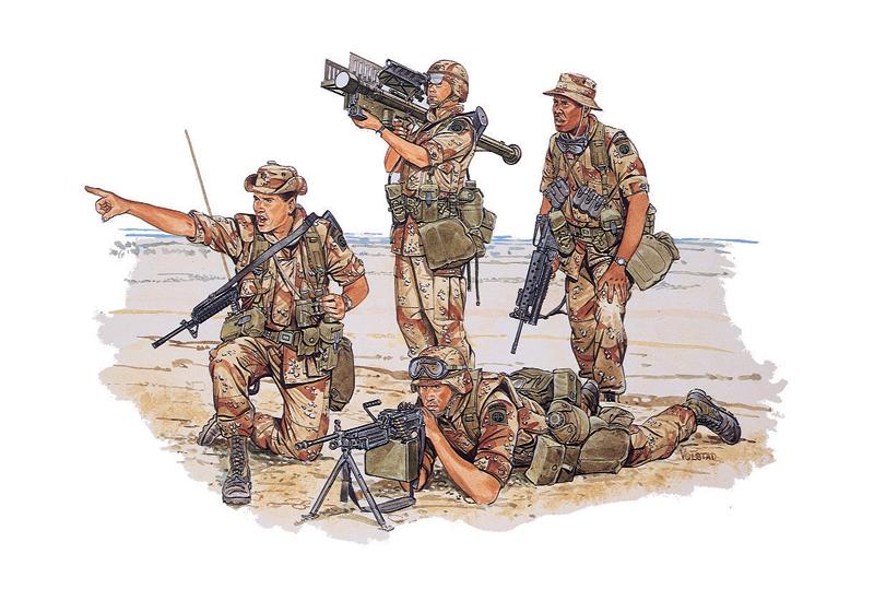 Сборная модель Солдаты U.S.82nd Airborne