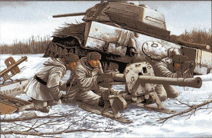 Модель Противотанковый гранатомет с расчетом