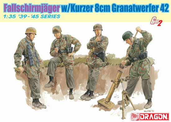 Модель Солдаты FALLSCHIRMJ?GER w/KURZER 8cm GRANATWERFER 42