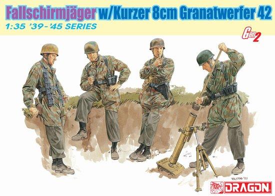 Сборная модель Солдаты FALLSCHIRMJ?GER w/KURZER 8cm GRANATWERFER 42