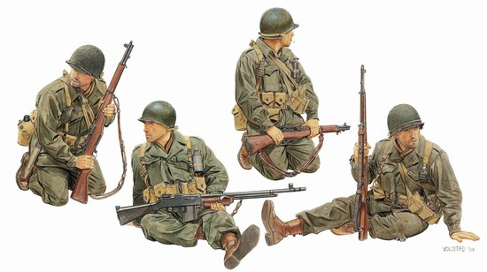 Модель Солдаты US ARMY TANK RIDERS 1944-45