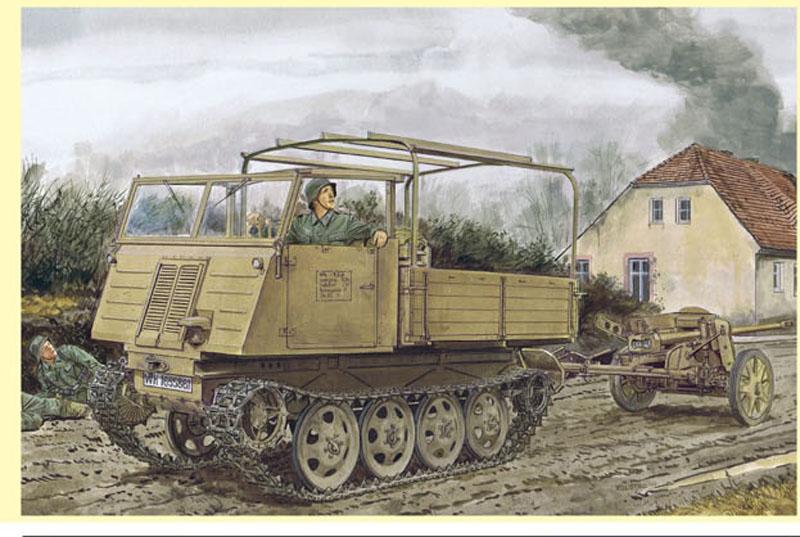Нем.артиллер.тягач+пушка ПАК38