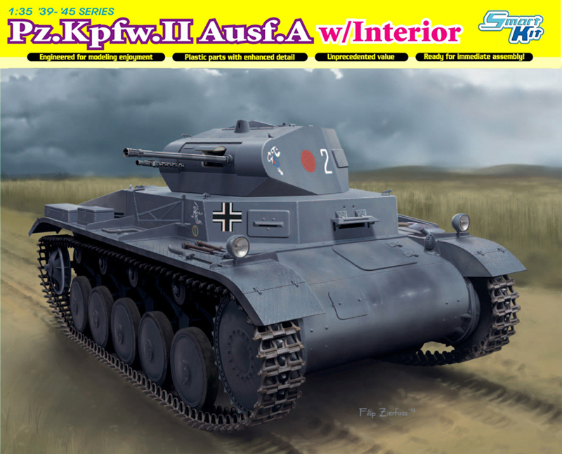 Сборная модель Танк Pz.Kpfw.II Ausf.A с интерьером