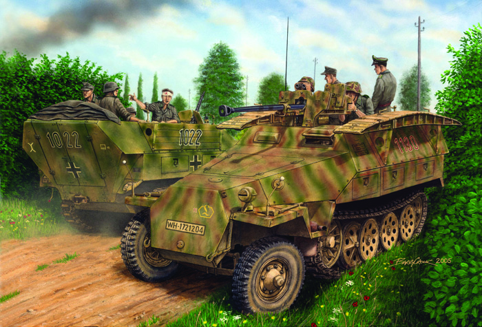 Сборная модель Бронетранспортер Sd.Kfz.251/7