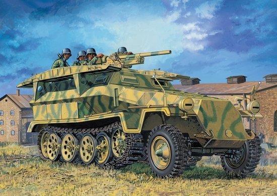Сборная модель Бронетранспортер Sd.Kfz.251/10 Ausf.D 3.7cm PAK