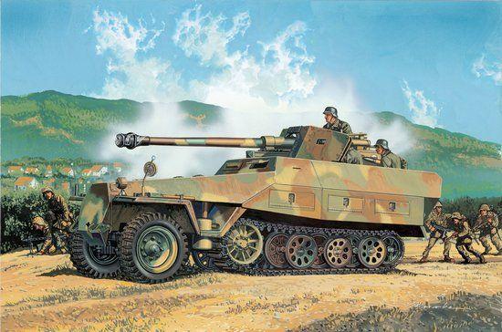 Сборная модель Бронетранспортер Sd.Kfz.251/22 Ausf D w Pak 40