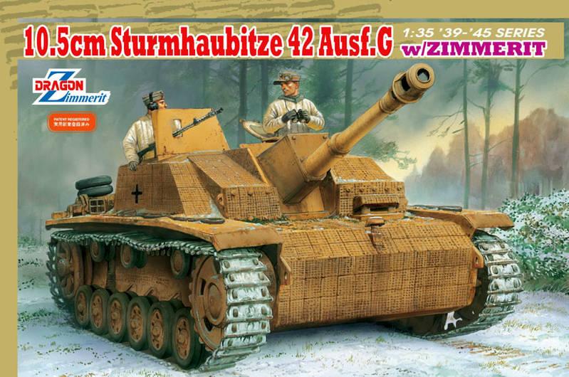 Сборная модель Танк 10.5cm STURMHAUBITZE 42 Ausf.G w/ZIMMERIT