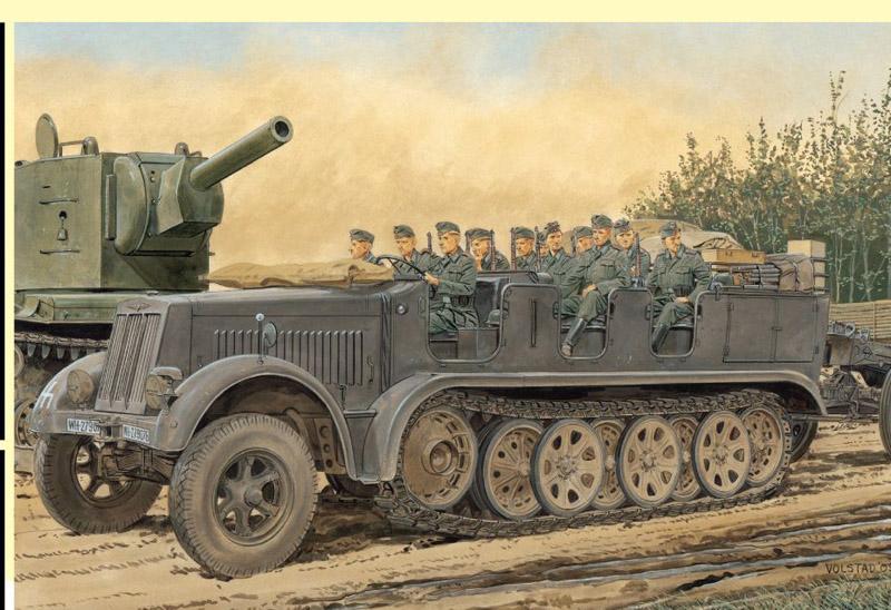 Модель БТР с пушкой Sd.Kfz.7 8t Half-Track Early Production w/Crew