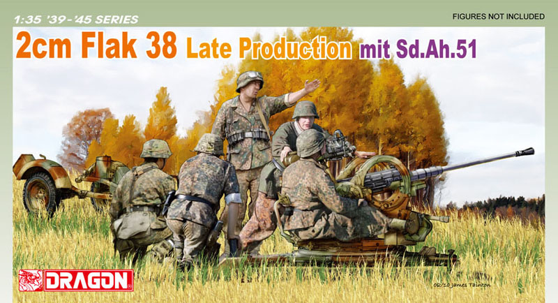 Сборная модель Зенитная пушка Flak 38 поздняя