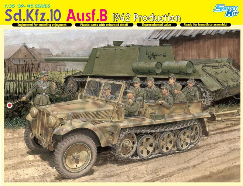 Сборная модель Полугусеничное авто Sd.Kfz.10 Ausf.B 1942г