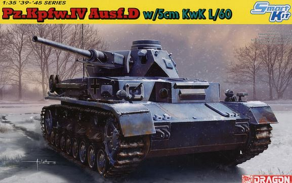 Модель 1/35 ТАНК Pz.Kpfw.lV Ausf.D w/5cm L/60