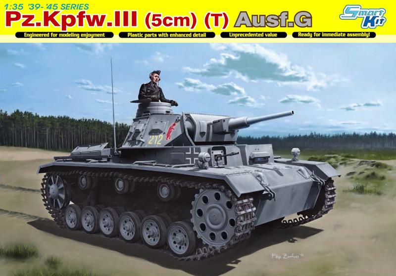 Сборная модель Танк Pz.Kpfw.III (5cm) (T) Ausf.G