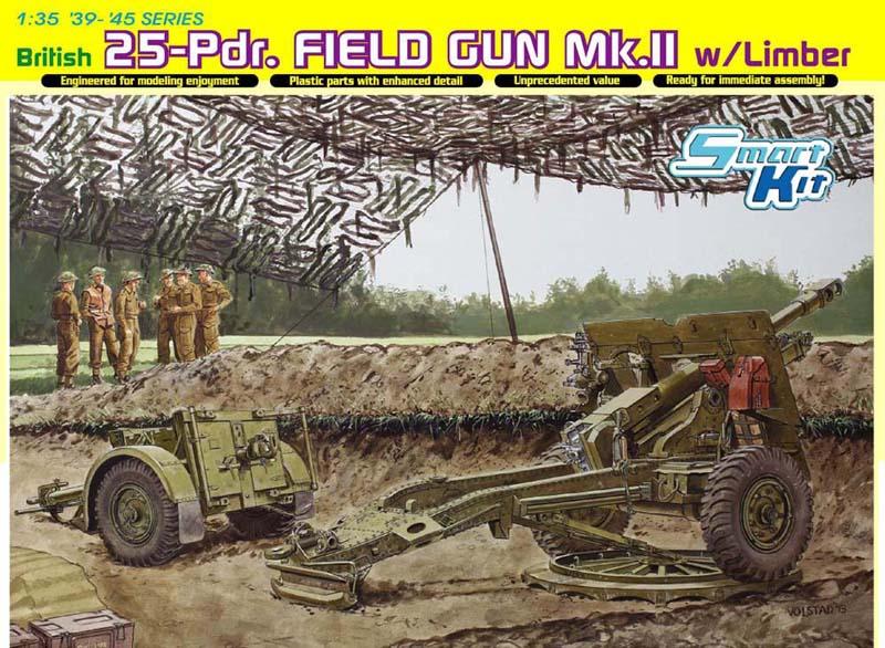 Сборная модель Англ.полевая пушка 25 pdr