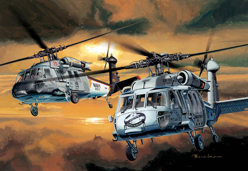 Модель Вертолет U.S. NAVY MH-60S NIGHTHAWK
