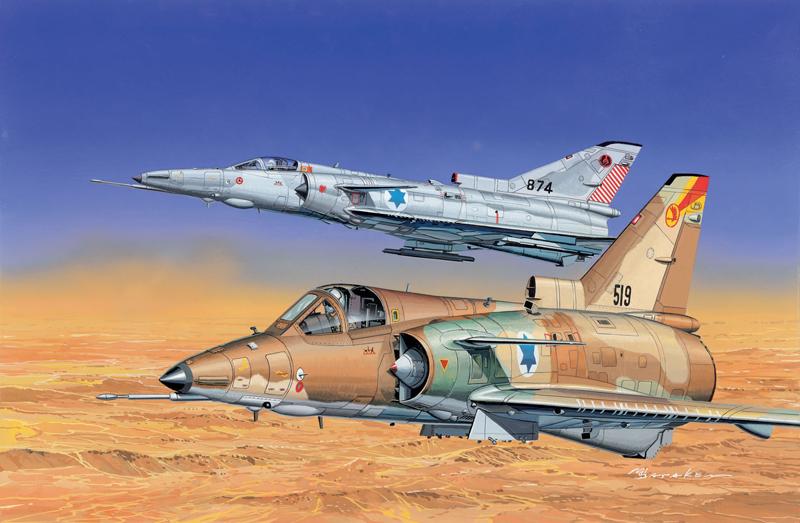 Модель Самолет IDF KFIR C2 + C7