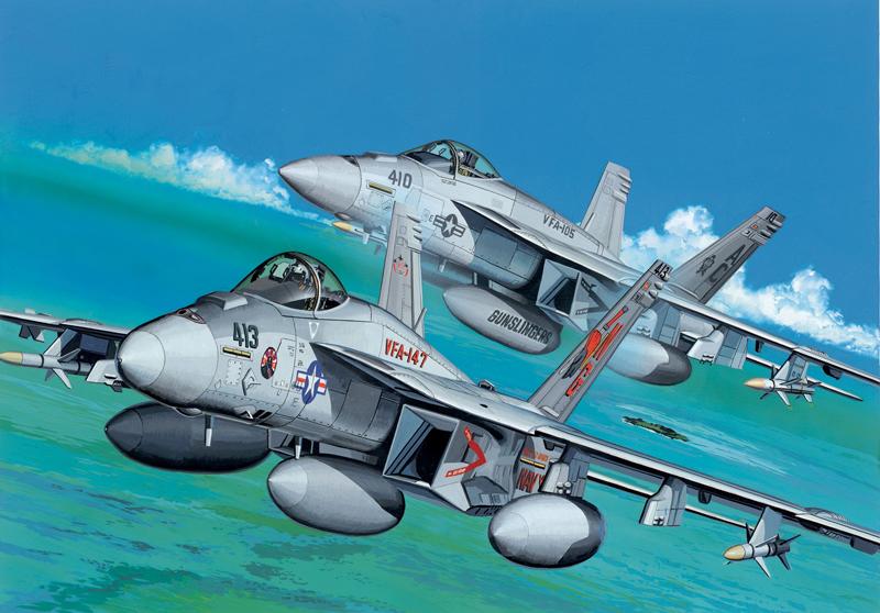 Сборная модель Самолет F/A-18E