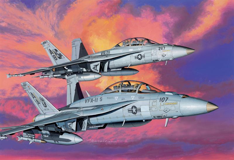 Сборная модель Самолет F/A-18F