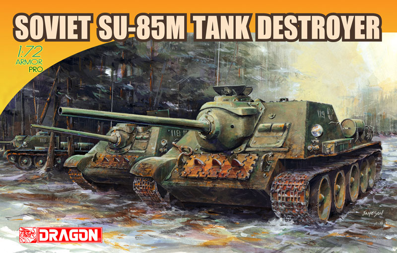 Сборная модель Танк Soviet SU-85M Tank Destroyer