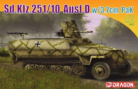 Сборная модель Бронетранспортер Sd.Kfz.251/10 Ausf.D w/3.7cm PaK