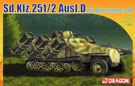 Сборная модель Бронетранспортер Sd.Kfz.251 Ausf.D mit WURFRAHMEN 40
