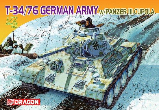 Модель Танк T-34/76 GERMAN ARMY w/PANZER III CUPOLA