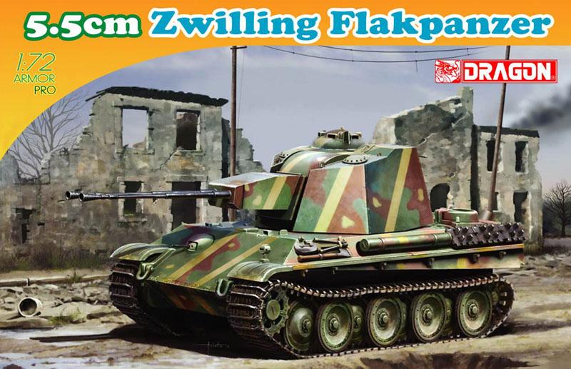 Сборная модель Танк 5,5см Zwilling Flakpanzer