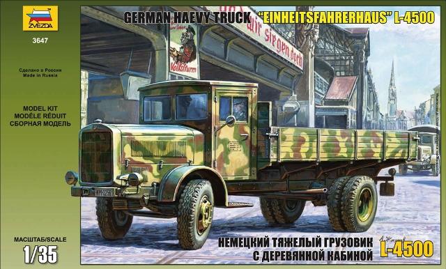Сборная модель Немецкий тяжелый грузовик L 4500 c деревянной кабиной