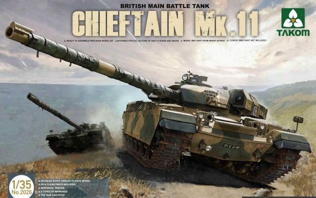 Модель БРИТАНСКИЙ ОСНОВНОЙ ТАНК CHIEFTAIN MK.11