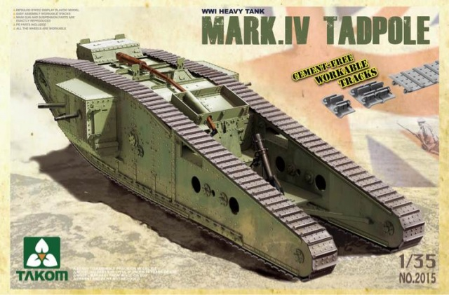 Модель ТЯЖЕЛЫЙ ТАНК TANK MARK IV САМЕЦ TADPOLE С МИНОМЕТОМ СЗАДИ