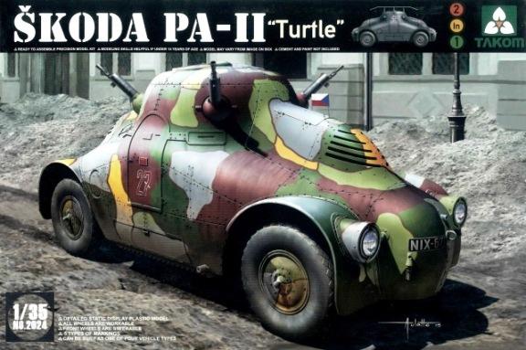 Модель НЕМЕЦКИЙ БРОНЕВИК S?KODA PA-II (ЧЕРЕПАХА)