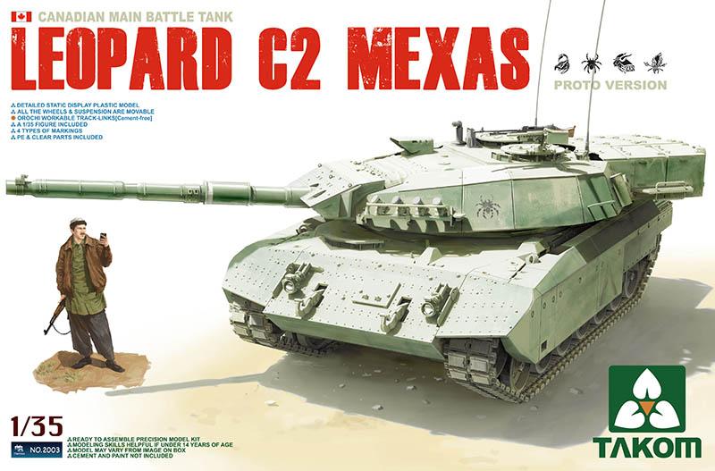 Сборная модель КАНАДСКИЙ ТАНК LEOPARD C2 MEXAS