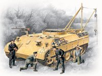 Сборная модель Bergepanther с германским танковым экипажем