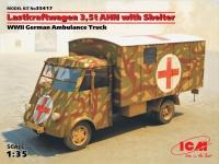 Сборная модель Lastkraftwagen 3.5 t AHN c будкой, Германский армейский авто