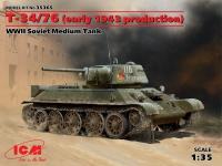 Сборная модель T-34/76 (производства начала 1943 г.),Советский средний танк