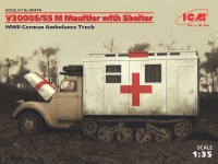 Сборная модель V3000S/SS M Maultier с санитарной будкой, Германский санитар