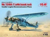 Hs 126A-1 с бомбодержателем, Самолет-разведчик Легиона
