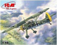 Сборная модель Hs 126A-1 Германский самолет-разведчик Второй Мировой войны