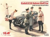 Модель Kadett K38 седан, с Германской дорожной полицией
