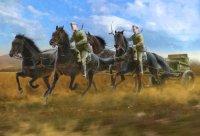 Сборная модель Советская полковая артиллерийская конная тяга (1943-1945) (п