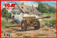 Сборная модель 7,62 cm Pak 36(r) Германская противотанковая пушка II МВ