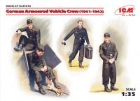 Сборная модель Германский экипаж бронеавтомобиля (1941-1942 г.), (4 фигуры