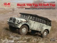 Модель Horch 108 Typ 40 с поднятым тентом, Германский армейский авт